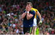 14 July 2019; Cillian O'Connor of Mayo reacts after mising a goal chance during the GAA Football All-Ireland Senior Championship Quarter-Final Group 1 Phase 1 match between Kerry and Mayo at Fitzgerald Stadium in Killarney, Kerry. Photo by Brendan Moran/Sportsfile