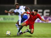 14 July 2019; Paolo Gozzi Iweru of Italy and Gonçalo Ramos of Portugal during the 2019 UEFA European U19 Championships group A match between Italy and Portugal at Banants Stadium in Yerevan, Armenia. Photo by Stephen McCarthy/Sportsfile