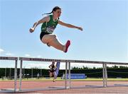 14 July 2019; Moya O'Connell from St. Colmans South Mayo A.C. who came third in the Girls U16 250m Hurdles during day three of the Irish Life Health National Juvenile Track & Field Championships at Tullamore Harriers Stadium in Tullamore, Co. Offaly.   Photo by Matt Browne/Sportsfile