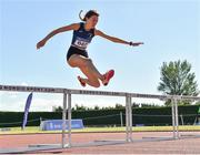 14 July 2019; Sophie Jackman St. Senans A.C. who came third in the Girls U18 400m Hurdles during day three of the Irish Life Health National Juvenile Track & Field Championships at Tullamore Harriers Stadium in Tullamore, Co. Offaly.   Photo by Matt Browne/Sportsfile