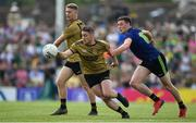 14 July 2019; Stephen O'Brien of Kerry in action against Fionn McDonagh of Mayo during the GAA Football All-Ireland Senior Championship Quarter-Final Group 1 Phase 1 match between Kerry and Mayo at Fitzgerald Stadium in Killarney, Kerry. Photo by Brendan Moran/Sportsfile