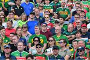 14 July 2019; Supporters stand for Amhran na bhFiann prior to the GAA Football All-Ireland Senior Championship Quarter-Final Group 1 Phase 1 match between Kerry and Mayo at Fitzgerald Stadium in Killarney, Kerry. Photo by Brendan Moran/Sportsfile