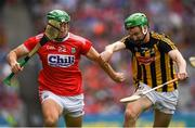 14 July 2019; Robbie O'Flynn of Cork in action against Joey Holden of Kilkenny  during the GAA Hurling All-Ireland Senior Championship quarter-final match between Kilkenny and Cork at Croke Park in Dublin. Photo by Ray McManus/Sportsfile