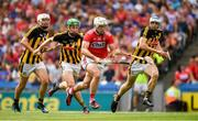 14 July 2019; Patrick Horgan of Cork  in action against Kilkenny players Joey Holden, 4, Padraig Walsh, 6, and Huw Lawlor during the GAA Hurling All-Ireland Senior Championship quarter-final match between Kilkenny and Cork at Croke Park in Dublin. Photo by Ray McManus/Sportsfile