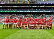 14 July 2019; The Cork squad before the GAA Hurling All-Ireland Senior Championship quarter-final match between Kilkenny and Cork at Croke Park in Dublin. Photo by Ray McManus/Sportsfile