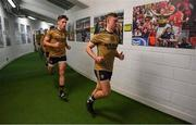 14 July 2019; James O'Donoghue of Kerry runs out of the dressingroom prior to the GAA Football All-Ireland Senior Championship Quarter-Final Group 1 Phase 1 match between Kerry and Mayo at Fitzgerald Stadium in Killarney, Kerry. Photo by Brendan Moran/Sportsfile