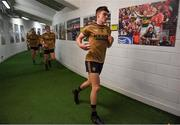 14 July 2019; Sean O'Shea of Kerry runs out of the dressingroom prior to the GAA Football All-Ireland Senior Championship Quarter-Final Group 1 Phase 1 match between Kerry and Mayo at Fitzgerald Stadium in Killarney, Kerry. Photo by Brendan Moran/Sportsfile