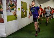 14 July 2019; Darren Coen of Mayo runs out of the dressingroom prior to the GAA Football All-Ireland Senior Championship Quarter-Final Group 1 Phase 1 match between Kerry and Mayo at Fitzgerald Stadium in Killarney, Kerry. Photo by Brendan Moran/Sportsfile
