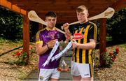 15 July 2019; In attendance at the Bord Gáis Energy GAA Hurling U-20 Provincial Championship Finals preview are Eoin O'Leary of Wexford and Evan Shefflin of Kilkenny at Saint Annes Park in Dublin. Wexford will take on Kilkenny in the Leinster decider on Wednesday night at 7.30pm at Innovate Wexford Park while on July 23rd, Tipperary face Cork at Semple Stadium in the Munster decider. Throw-in there is 7.30pm. Photo by Sam Barnes/Sportsfile