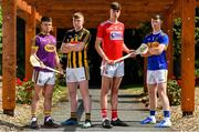 15 July 2019; In attendance at the Bord Gáis Energy GAA Hurling U-20 Provincial Championship Finals preview are, from left, Eoin O'Leary of Wexford, Evan Shefflin of Kilkenny, Robert Downey of Cork and Jake Morris of Tipperary at Saint Annes Park in Dublin. Wexford will take on Kilkenny in the Leinster decider on Wednesday night at 7.30pm at Innovate Wexford Park while on July 23rd, Tipperary face Cork at Semple Stadium in the Munster decider. Throw-in there is 7.30pm. Photo by Sam Barnes/Sportsfile