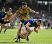 14 July 2019; Keith Higgins of Mayo in action against Paul Geaney of Kerry during the GAA Football All-Ireland Senior Championship Quarter-Final Group 1 Phase 1 match between Kerry and Mayo at Fitzgerald Stadium in Killarney, Kerry. Photo by Brendan Moran/Sportsfile