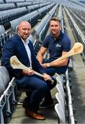15 July 2019; To coincide with the Bord Gáis Energy GAA Hurling U-20 Provincial Championship Finals preview, Bord Gáis Energy announced two exclusive tours of Croke Park for Rewards Club customers with Cork's Brian Corcoran, left, and Kilkenny's Eddie Brennan. Photo by Sam Barnes/Sportsfile
