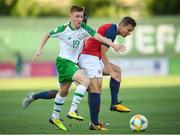 15 July 2019; Brandon Kavanagh of Republic of Ireland and Johan Hove of Norway during the 2019 UEFA European U19 Championships group B match between Norway and Republic of Ireland at FFA Academy Stadium in Yerevan, Armenia. Photo by Stephen McCarthy/Sportsfile