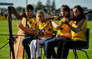 13 July 2019; The St Ronan's Scór Instrumental music group entertain the fans at half-time during the GAA Football All-Ireland Senior Championship Quarter-Final Group 2 Phase 1 match between Roscommon and Tyrone at Dr Hyde Park in Roscommon. Photo by Brendan Moran/Sportsfile