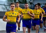 13 July 2019; Enda Smith of Roscommon leads his side out prior to the GAA Football All-Ireland Senior Championship Quarter-Final Group 2 Phase 1 match between Roscommon and Tyrone at Dr Hyde Park in Roscommon. Photo by Brendan Moran/Sportsfile