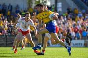 13 July 2019; Shane Killoran of Roscommon in action against Richie Donnelly of Tyrone during the GAA Football All-Ireland Senior Championship Quarter-Final Group 2 Phase 1 match between Roscommon and Tyrone at Dr Hyde Park in Roscommon. Photo by Brendan Moran/Sportsfile