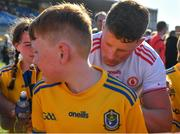 13 July 2019; Conor Cox of Roscommon signs autographs after the GAA Football All-Ireland Senior Championship Quarter-Final Group 2 Phase 1 match between Roscommon and Tyrone at Dr Hyde Park in Roscommon. Photo by Brendan Moran/Sportsfile