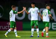 15 July 2019; Republic of Ireland players, from left, Brandon Kavanagh, Andrew Omobamidele and Matt Everitt following the 2019 UEFA European U19 Championships group B match between Norway and Republic of Ireland at FFA Academy Stadium in Yerevan, Armenia. Photo by Stephen McCarthy/Sportsfile