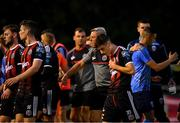 15 July 2019; Bohemians manager Keith Long orders his players from the field following the SSE Airtricity League Premier Division match between UCD and Bohemians at UCD Bowl in Dublin. Photo by Seb Daly/Sportsfile