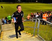 15 July 2019; UCD manager Colin O'Neill leaves the field following the SSE Airtricity League Premier Division match between UCD and Bohemians at UCD Bowl in Dublin. Photo by Seb Daly/Sportsfile