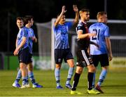 15 July 2019; Yoyo Mahdy of UCD, centre, celebrates following his side's victory during the SSE Airtricity League Premier Division match between UCD and Bohemians at UCD Bowl in Dublin. Photo by Seb Daly/Sportsfile