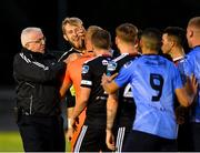 15 July 2019; Conor Kearns of UCD, second left, tussles with Bohemians players following the SSE Airtricity League Premier Division match between UCD and Bohemians at UCD Bowl in Dublin. Photo by Seb Daly/Sportsfile