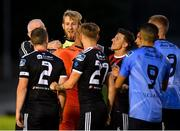 15 July 2019; Conor Kearns of UCD, second left, tussles with Keith Buckley of Bohemians following the SSE Airtricity League Premier Division match between UCD and Bohemians at UCD Bowl in Dublin. Photo by Seb Daly/Sportsfile