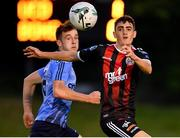 15 July 2019; Dawson Devoy of Bohemians \ia Harry McEvoy of UCD during the SSE Airtricity League Premier Division match between UCD and Bohemians at UCD Bowl in Dublin. Photo by Seb Daly/Sportsfile