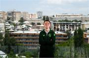 16 July 2019; Brandon Kavanagh of Republic of Ireland poses for a portrait at their team hotel during the 2019 UEFA European U19 Championships in Yerevan, Armenia. Photo by Stephen McCarthy/Sportsfile