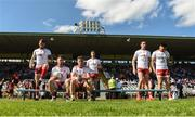 6 July 2019; Tyrone players pose for a photo before the GAA Football All-Ireland Senior Championship Round 4 match between Cavan and Tyrone at St. Tiernach's Park in Clones, Monaghan. Photo by Oliver McVeigh/Sportsfile