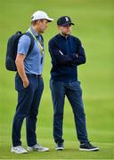 16 July 2019; Singer Niall Horan, right, in attendance during a practice round ahead of the 148th Open Championship at Royal Portrush in Portrush, Co. Antrim. Photo by Brendan Moran/Sportsfile