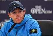 17 July 2019; Rory McIlroy of Northern Ireland during a press conference ahead of the 148th Open Championship at Royal Portrush in Portrush, Co. Antrim. Photo by Brendan Moran/Sportsfile