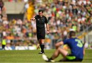 14 July 2019; Referee Sean Hurson during the GAA Football All-Ireland Senior Championship Quarter-Final Group 1 Phase 1 match between Kerry and Mayo at Fitzgerald Stadium in Killarney, Kerry. Photo by Eóin Noonan/Sportsfile