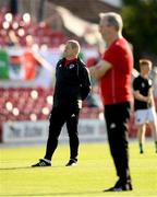 11 July 2019; Cork City Interim-Head Coach John Cotter, left, with Cork City Interim-Manager Frank Kelleher during the UEFA Europa League First Qualifying Round 1st Leg match between Cork City and Progres Niederkorn at Turners Cross in Cork. Photo by Eóin Noonan/Sportsfile