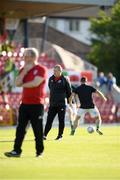 11 July 2019; Cork City Interim-Head Coach John Cotter, right, with Cork City Interim-Manager Frank Kelleher during the UEFA Europa League First Qualifying Round 1st Leg match between Cork City and Progres Niederkorn at Turners Cross in Cork. Photo by Eóin Noonan/Sportsfile