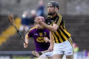 17 July 2019; James Brennan of Kilkenny in action against Sean O'Connor of Wexford during the Bord Gais Energy Leinster GAA Hurling U20 Championship Final match between Kilkenny and Wexford at Innovate Wexford Park in Wexford. Photo by Matt Browne/Sportsfile