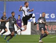 17 July 2019; Chris Shields of Dundalk in action during the UEFA Champions League First Qualifying Round 2nd Leg match between Riga and Dundalk at Skonto Stadium in Riga, Latvia. Photo by Roman Koksarov/Sportsfile
