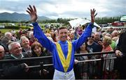 17 July 2019; Jockey Frankie Dettori with racegoers during day 3 of the Killarney Racing Festival at Killarney Racecourse in Kerry. Photo by David Fitzgerald/Sportsfile