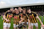 17 July 2019; Kilkenny players from left John Dowd, Mikey Butler, Stephen Donnelly, Conor Murphy and James Bergin celebrate after the Bord Gais Energy Leinster GAA Hurling U20 Championship Final match between Kilkenny and Wexford at Innovate Wexford Park in Wexford. Photo by Matt Browne/Sportsfile
