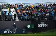 18 July 2019; James Sugrue of Ireland lines up his shot on the first tee box during Day One of the 148th Open Championship at Royal Portrush in Portrush, Co Antrim. Photo by Brendan Moran/Sportsfile