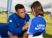 18 July 2019; Leinster player Adam Byrne with participants during the Bank of Ireland Leinster Rugby Summer Camp at Seapoint Rugby Club in Glenageary, Dublin. Photo by Harry Murphy/Sportsfile