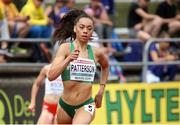 18 July 2019; Davicia Patterson of Ireland competing in the Women's 400m qualifying rounds during Day One of the European Athletics U20 Championships in Borås, Sweden. Photo by Giancarlo Colombo/Sportsfile