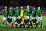 18 July 2019; The Republic of Ireland team prior to the 2019 UEFA European U19 Championships Group B match between Republic of Ireland and France at Banants Stadium in Yerevan, Armenia. Photo by Stephen McCarthy/Sportsfile