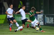 18 July 2019; Matt Everitt of Republic of Ireland in action against Maxence Caqueret of France during the 2019 UEFA European U19 Championships Group B match between Republic of Ireland and France at Banants Stadium in Yerevan, Armenia. Photo by Stephen McCarthy/Sportsfile