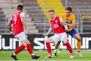18 July 2019; Gary Shaw of St Patrick's Athletic in action against Rasmus Lauritsen of IFK Norrköping during the UEFA Europa League First Qualifying Round 2nd Leg match between IFK Norrköping and St Patrick's Athletic at Norrköpings Idrottsparken in Norrkoping, Sweden. Photo by Peter Holgersson/Sportsfile