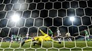 18 July 2019; Republic of Ireland goalkeeper Brian Maher makes a first half save during the 2019 UEFA European U19 Championships Group B match between Republic of Ireland and France at Banants Stadium in Yerevan, Armenia. Photo by Stephen McCarthy/Sportsfile