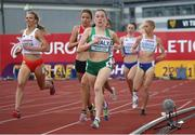 18 July 2019; Sarah Healy of Ireland competing in the Women's 3000m during Day One of the European Athletics U20 Championships in Borås, Sweden. Photo by Giancarlo Colombo/Sportsfile