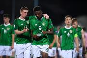 18 July 2019; Kameron Ledwidge, left, and Jonathan Afolabi of Republic of Ireland following the 2019 UEFA European U19 Championships Group B match between Republic of Ireland and France at Banants Stadium in Yerevan, Armenia. Photo by Stephen McCarthy/Sportsfile