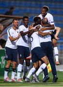18 July 2019; France players celebrate after Wilson Isidor scored his side's goal during the 2019 UEFA European U19 Championships Group B match between Republic of Ireland and France at Banants Stadium in Yerevan, Armenia. Photo by Stephen McCarthy/Sportsfile
