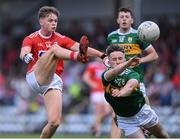 18 July 2019; Cathail O'Mahony of Cork in action against Chris O'Donoghue of Kerry during the EirGrid Munster GAA Football U20 Championship Final match between Cork and Kerry at Páirc Ui Rinn in Cork. Photo by Matt Browne/Sportsfile